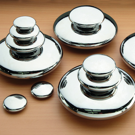 Mirrored Stacking Pebbles Silver 20pk  large