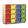 Mobile Tray Storage Unit With 16 Extra Deep Trays  small