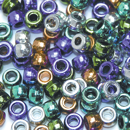 Metallic Assorted Pony Beads 1000pk  large