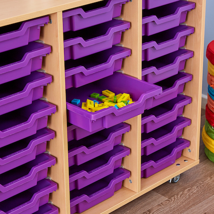 24 Shallow Tray Storage Unit Without Trays  large