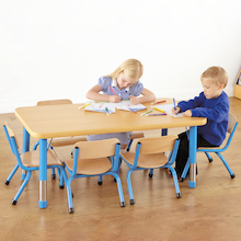 Copenhagen Rectangular Six Seater Classroom Table  medium