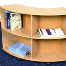Wooden Curved Bookcases  medium