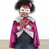 Super Hero Dress Up Set, Cape, Mask and Gauntlet  small