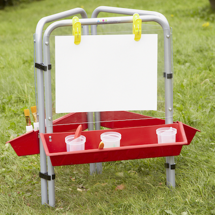 Outdoor Easy Clean Toddler Painting Easel  large