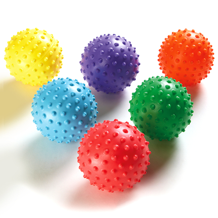 Tactile Knobbly Easy Grip Balls 12cm 6pk  large