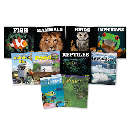 KS1 Animal Habitats Books 10pk  large