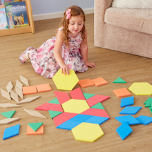 Giant Foam Floor Pattern Blocks 49pcs  medium