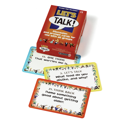 Lets Talk Discussion prompt cards  large