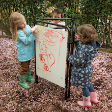 Packaway Toddler Easel Assorted Drawing Surfaces  medium