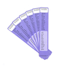 High Frequency Word Bookmarks Phase 3 6pk  small