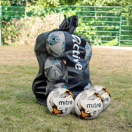 Mitre Ultimatch Footballs and Bag 12pk  large