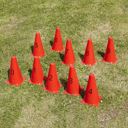 Plastic Number Cones 0\-9  large