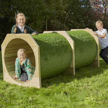 Outdoor Wooden Tunnels  large