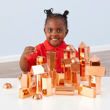 Rose Gold Metallic 3D Shape Collection 32pcs  medium