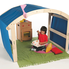 Indoor/Outdoor Wooden Folding Den  medium