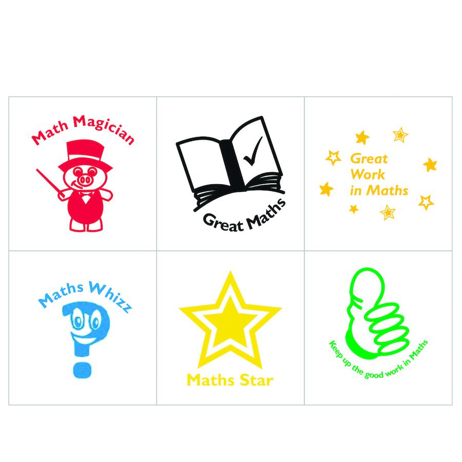 Buy Maths Self Inking Stamps 6pk | TTS