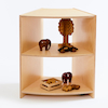 Essentials Indoor Natural Wooden Corner Unit  small
