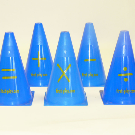 Plastic Maths Operations Cones 5pcs  large