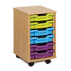 Mobile Tray Storage Unit With 6 Shallow Trays  small