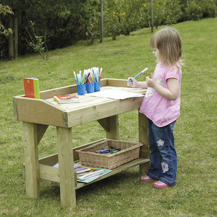 Outdoor Wooden Work Bench  large