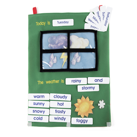 Soft Fabric Weather Wall Chart with Motifs  large
