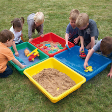 Large Coloured Sand Trays 4pk  medium