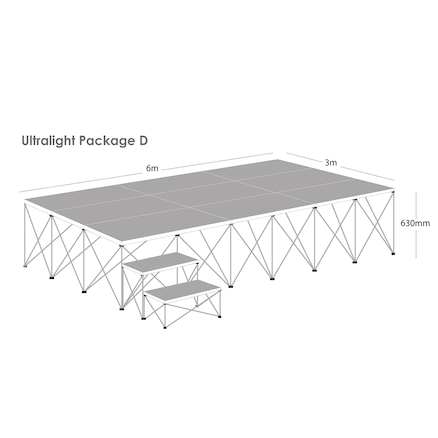 Ultralight Folding Staging Package D  large