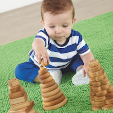 Wooden Manipulative Stacking Pyramids   medium