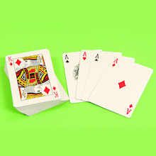 Traditional 52 Card Playing Pack  medium