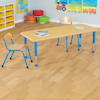 Copenhagen Rectangular Eight Seat Classroom Table  small