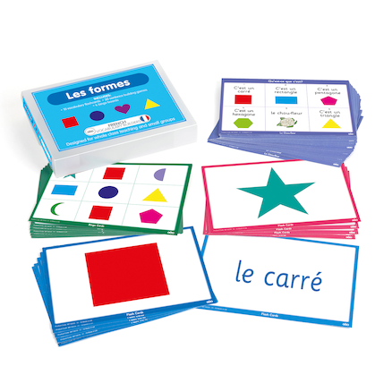 French Vocabulary Builders \- Shapes  large
