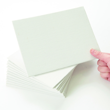 Primed White Canvas Panels 20 x 15cm 12pk  medium