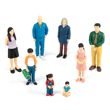 Small World Plastic Block Diversity People  large