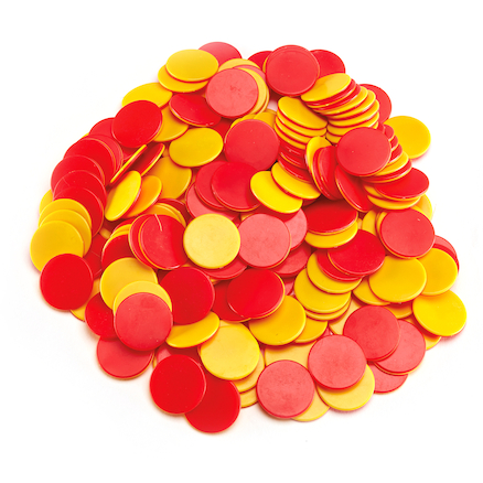 Two Colour Counters Red\/Yellow 200pk  large