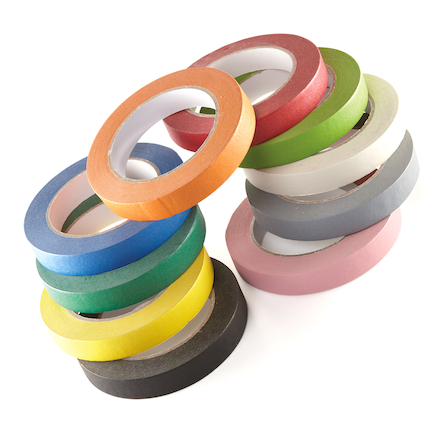 Coloured Masking Tape \- 10 Colours  large