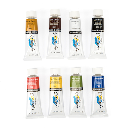 System 3 Acrylic Tube Set 75ml 8pk  large