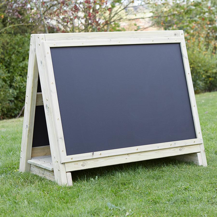 Buy Toddler S Outdoor Chalkboard Wooden Floor Easel Tts