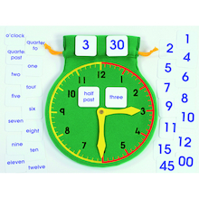 Time Teaching Clock with Detachable Numbers Bag  medium