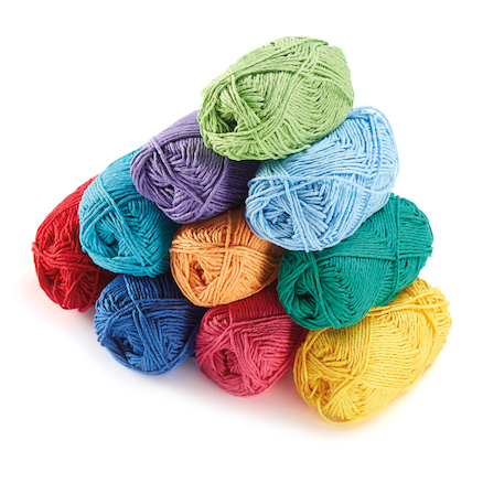 Coloured Craft Cotton Assorted 50g 10pk  large
