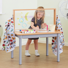 TTS Clear Acrylic Easel and Activity Table    medium