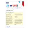 Un or Une Petit Guide  small