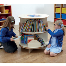 Two Level Rotating Bookcase Centre D75 x H82cm  medium