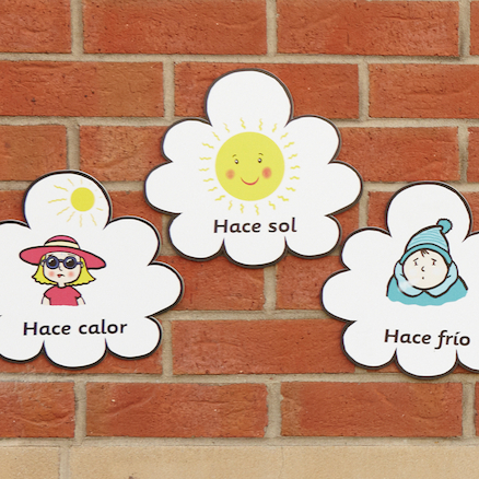 Spanish Weather Vocabulary Playground Signs  large