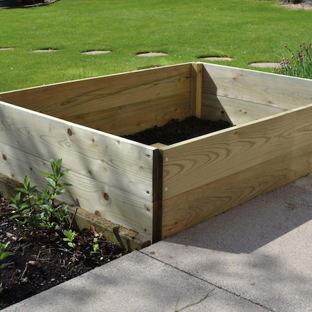 2 Tier Rectangular Raised Bed  large