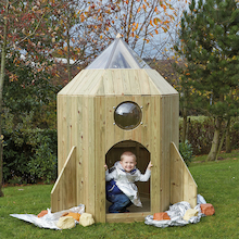 Outdoor Wooden Role Play Spaceship  medium
