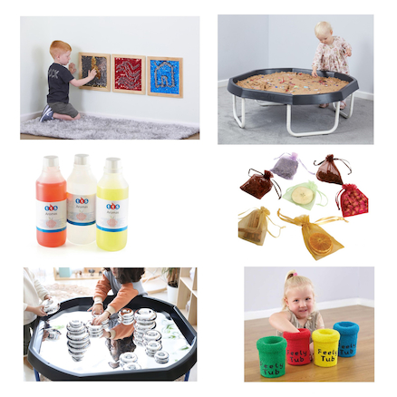 Sensory Tuff Tray Stand and Bundle  large