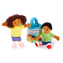 Bun and Twig Teaching Social Skills Hand Puppets  medium