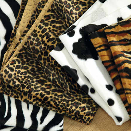 Assorted Printed Animal Skin Fabric 5pk  large