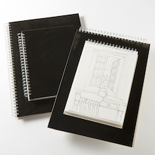 Pisces Black Spiral Sketchbooks A3 140gsm  medium