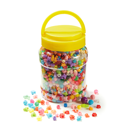 Bucket Of Assorted Plastic Beads 2500pk  large